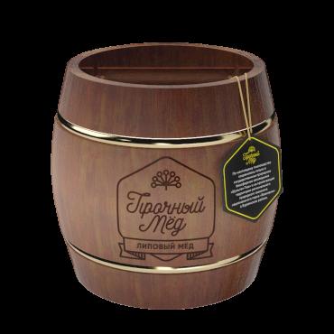 Linden honey (brown wooden barrel) 300g