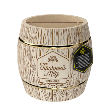 Cream honey (wooden barrel) 300g