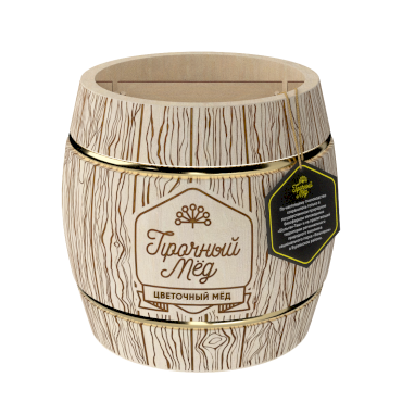Flower honey (wooden barrel) 1kg