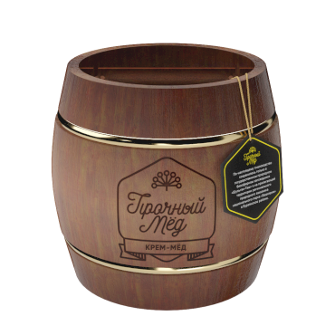 Cream honey (brown wooden barrel) 1kg