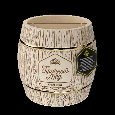Cream honey (wooden barrel) 500g