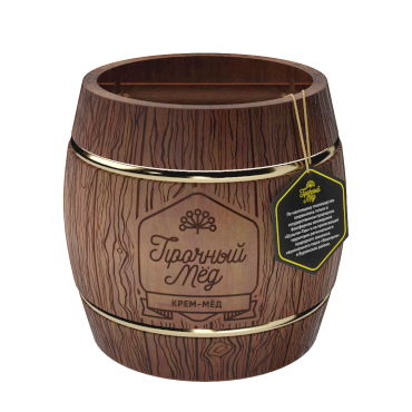 Cream honey (dark wooden barrel) 500g