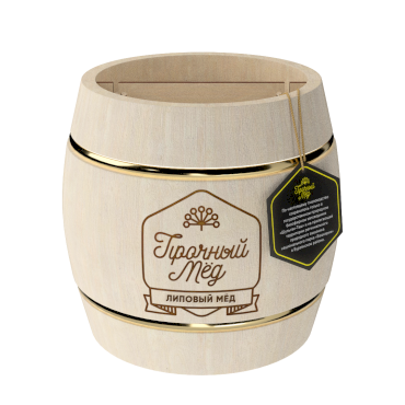 Linden honey (light wooden barrel) 500g