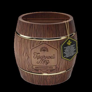Flower honey (dark wooden barrel) 300g